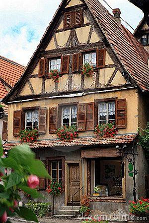 village français, Alsace, France