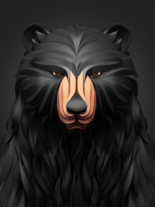"""A nice series of animal illustrations of a bear, a lion, a fox and an owl entitled """"Predators"""" by Russian graphic designer Maxim Shkret. An interesting approach to give a 3D paper-like rendering thanks to various visual effects made using 3D Max, Vray, Zbrush and Adobe CS5. Enjoy! - See more at: http://www.zillamag.com/graphic/predators-illustrations-by-maxim-shkret/#sthash.ZsibI02c.dpuf"""
