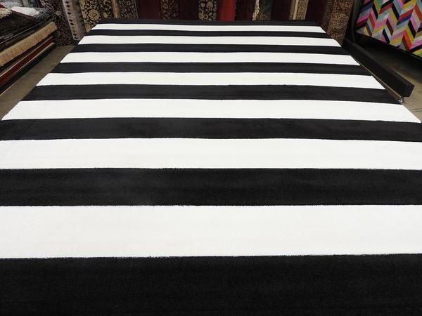Modern Striped Turkish Rug Size: 240 x 330cm