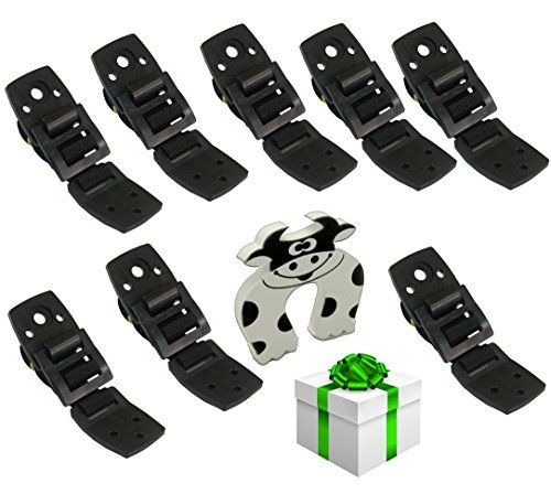 #TV / #Furniture Anti-Tip #Straps - #Anchors Any #Furniture / #Flatscreen, #Extra #Strong #Hold | #8 #Pack #Black / #White / #White & #Black | #Childproofing for #Light & #Heavy #Furniture - #Door #Slam #Stopper #Included ACCIDENTS WILL & DO HAPPEN; Dangers in the home are everywhere for a small child. but we all think accidents will never happen to our toddlers; It is proven, and there are lots of example, that tipping tv's and #furniture can cause serious injury with occasi