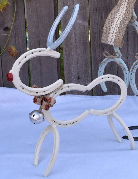 horseshoe reindeer by ironnlace1 on etsy horse shoes