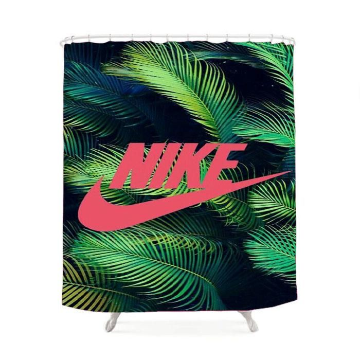 Nike Palm Pink Shower Curtain