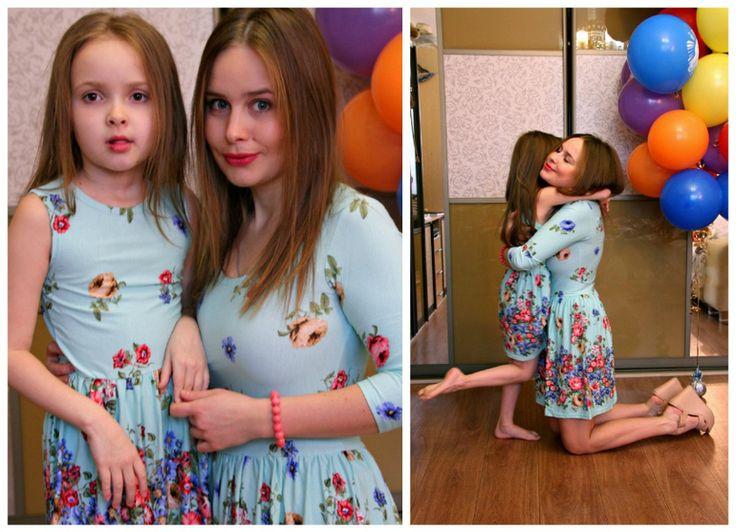 Платья для мам и дочек. Летнее платье 2015.