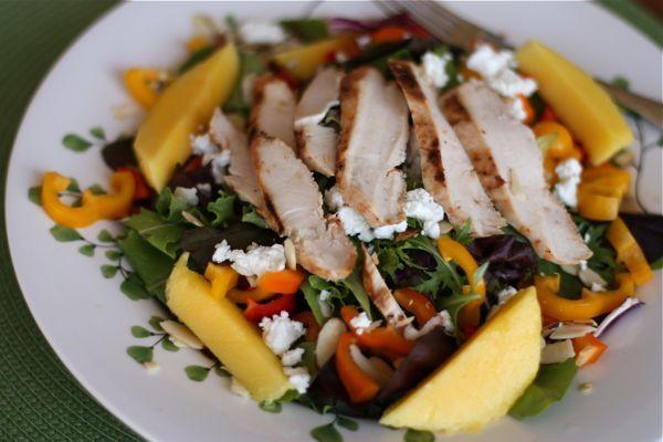Grilled Chicken Summer Salad with Mango