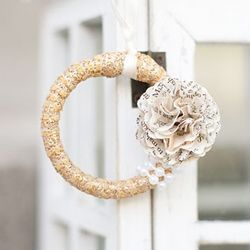 A fun and easy DIY on how to make a lovely Christmas ornament out of a shower curtain ring!Shower Curtains