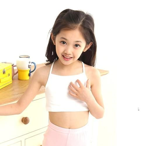 8389ebf56c Young Girl's Training Bras Camisoles Solid Breathable Soft Underwear ...