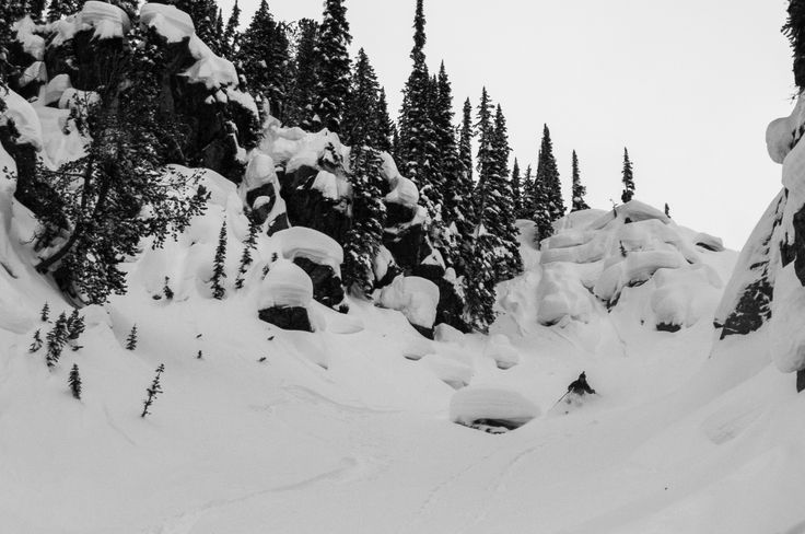 This is the last run of Alexandre Cauchon-Beauséjour at Fairy Meadow hut, in the Canadian Selkirk, after a week of deep backcountry powder, trees and pillow run and most of all good time with friends. We were looking for those pillows all week, and after 90cm over night, we finally went for it at the last day.