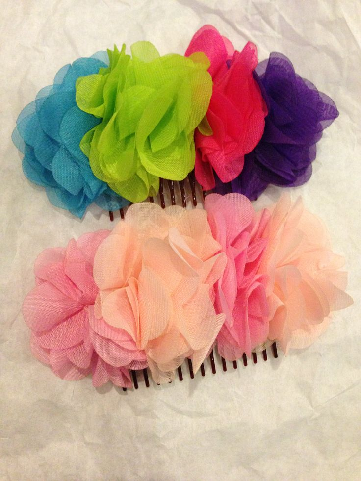 Two multicoloured hair clips!