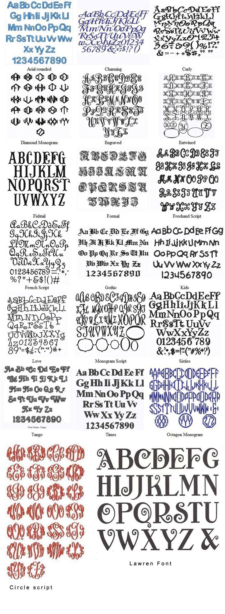 Variedades de letras