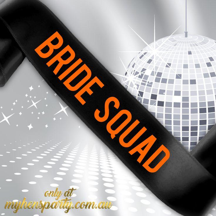 Bride Squad Sash