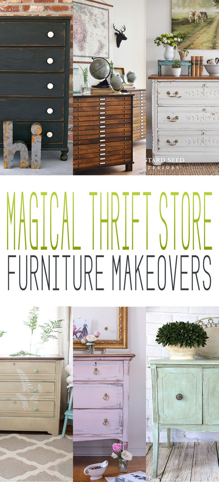 Magical Thrift Store Furniture Makeovers