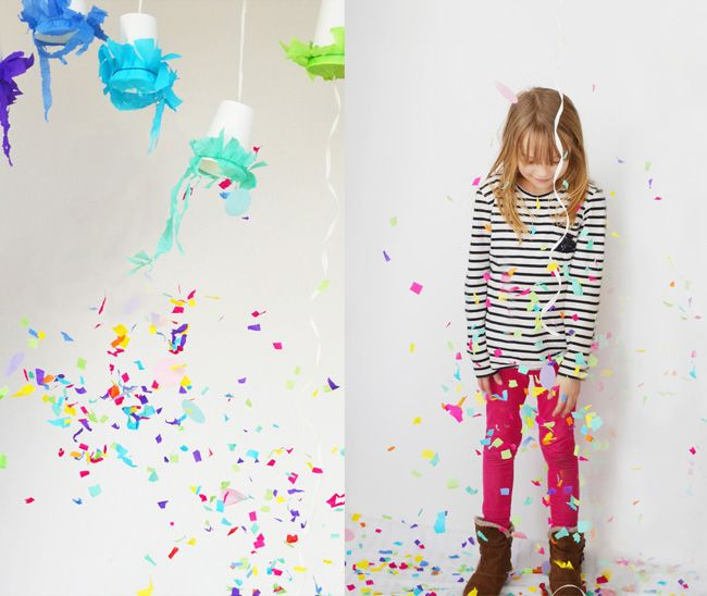 Rezepte, Deko, Spiel- und Bastelideen für den Kindergeburtstag * kostenlose Einladung zum Ausdrucken und Printables * Kunst + Konfetti Party entdecken