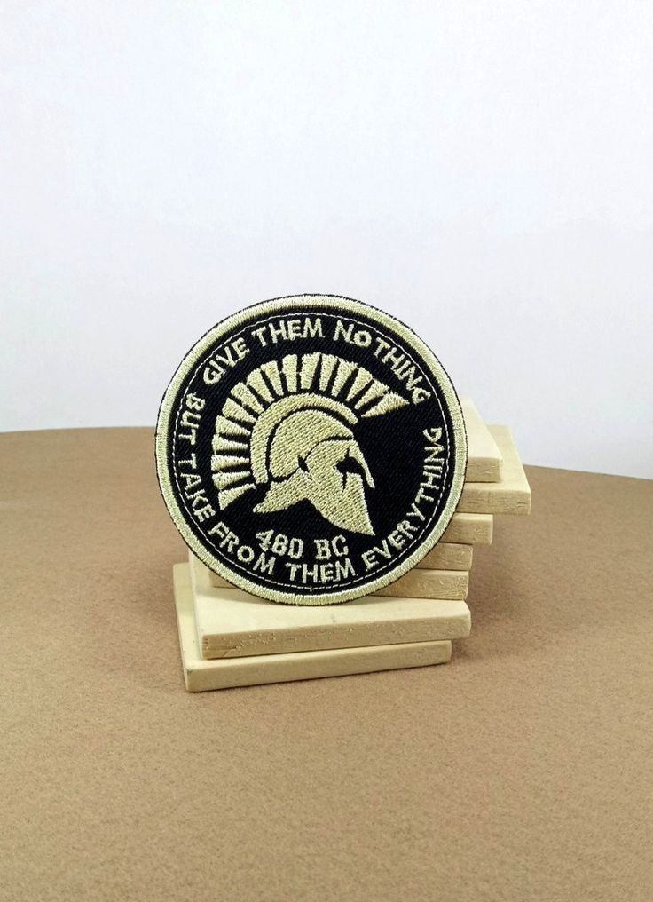 Patch of Sparta - (7 cm) - with the quote of King Leonidas before the battle start in 300 film. by SundayNeek on Etsy