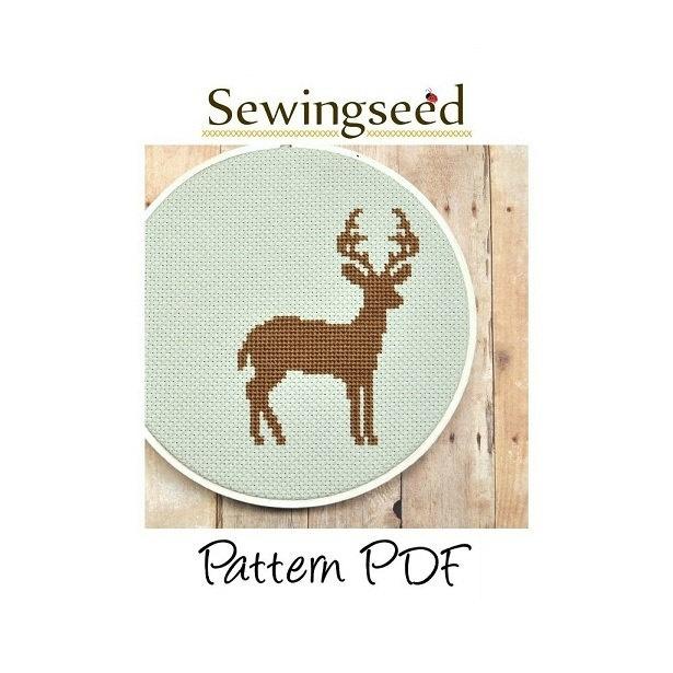 Deer Cross Stitch Printable Pattern. $4.00, via Etsy.