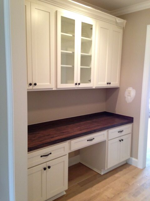 Custom Shaker Butlers Pantry With Custom Made Poplar Wood Top. Custom  CabinetsButler PantryKitchen ...