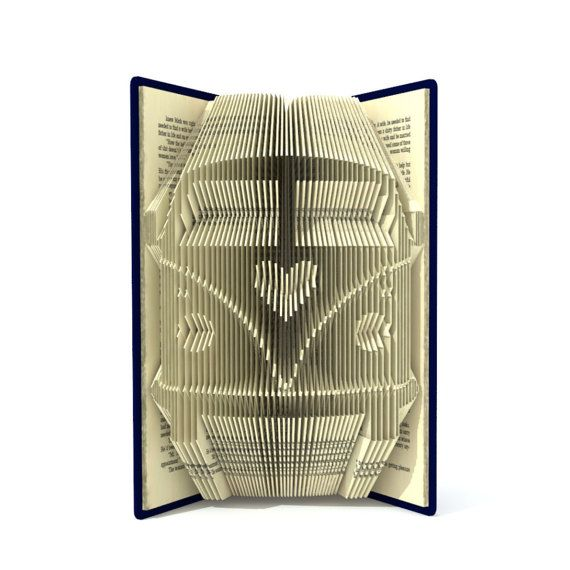 Book folding pattern   CAMPER VAN with HEART  234 folds
