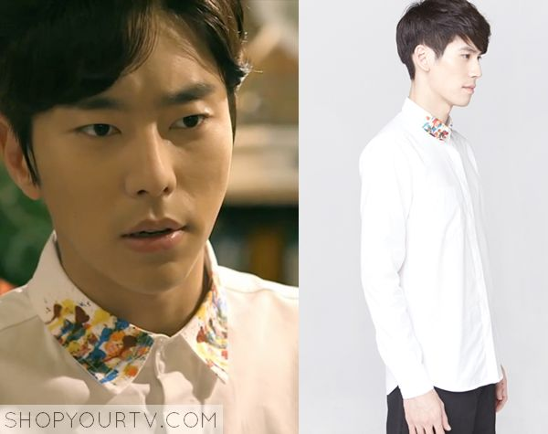 Witch's Romance: Episode 7 Yong Soo Chul's Paint Collar Shirt - ShopYourTv