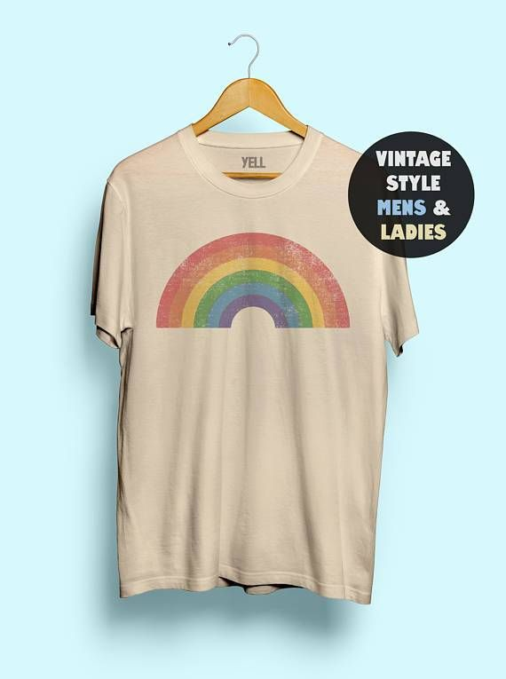 faea14b1 Show your pride with these retro rainbow pride shirts. LGBT style, Gay AF  and plain rainbow, available in many sizes. UnisexSleeve Length(cm):  ShortStyle: ...