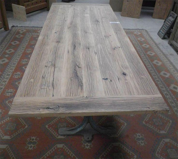 8 best table en vieux bois images on pinterest old oak - Fabrication table bois ...