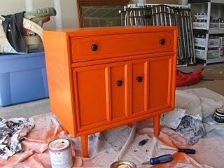 Orange Nightstand