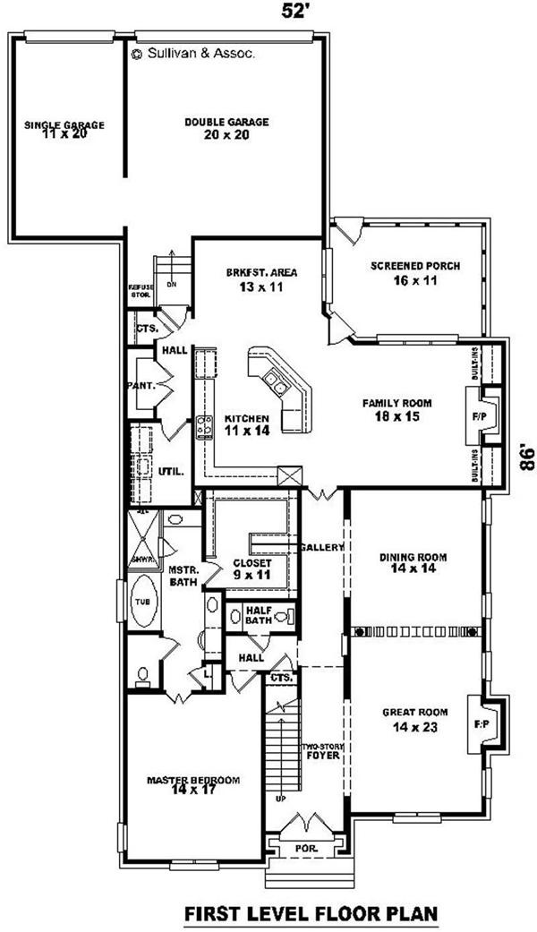 House plans with great room in back - Consider choosing great house plan ...