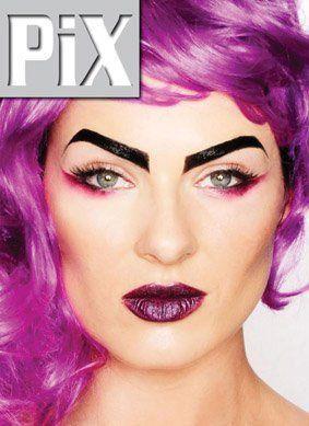 Lynné de Jager Mrs South Africa 2012 PixMag Purple Hair