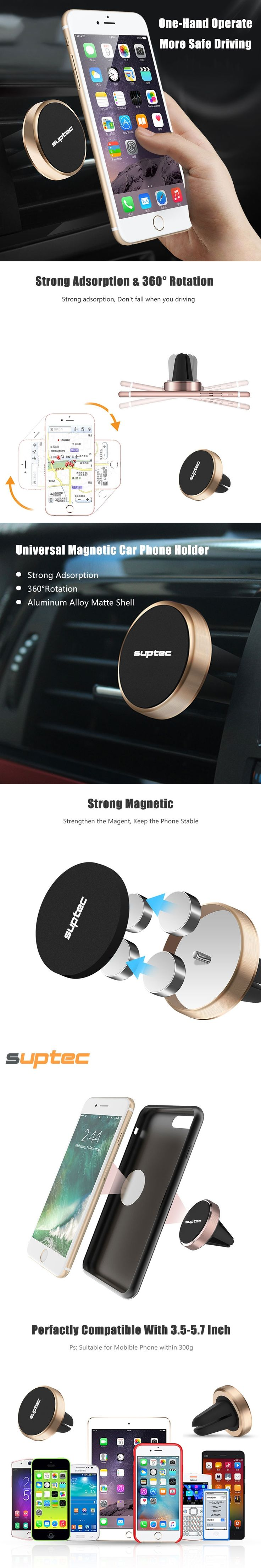 Universal Magnetic Car Phone Holder for iPhone 7 6s 6 plus Samsung S8 GPS Mobile Phone Holder Air Vent Holder Stand Car Holder