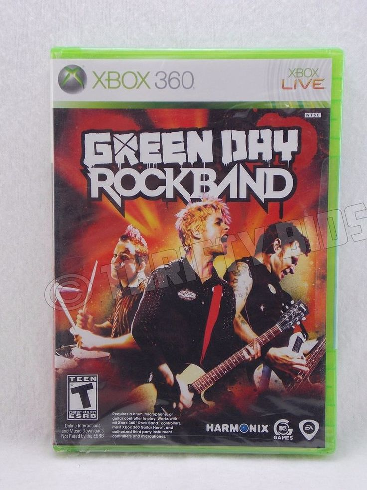Green Day Rock Band Microsoft Xbox 360 Harmonix EA 2010 New Damage Wrapper #HarmonixEA