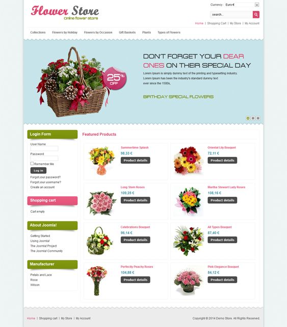 This VirtueMart template comes with a homepage featured content slider, speed optimization, easy customization, multi-language and multi-store support, multiple layout options, custom checkout progress and product catalog pages, and more.