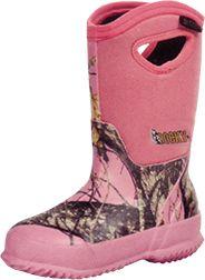 ROCKY BRANDS WHOLESALE LLC Adolescent Core Rubber Boot 400g M.O.Pink Size 7, PR
