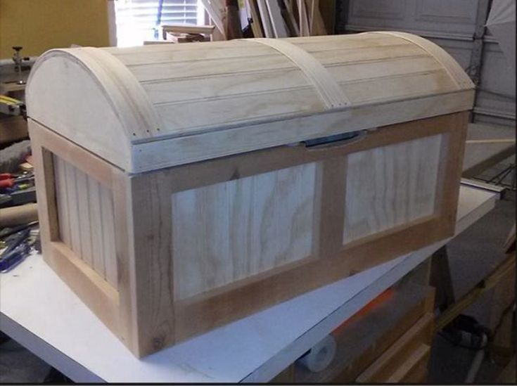 11 Free DIY Toy Box Plans That The Children In Your Life Will Love: Pirate's Chest Toy Box Plan at Chief's Shop