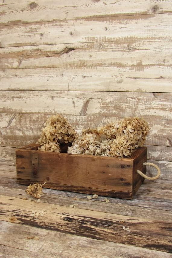 Vintage Rustic Handmade Wooden Crate with Rope Handles – Products
