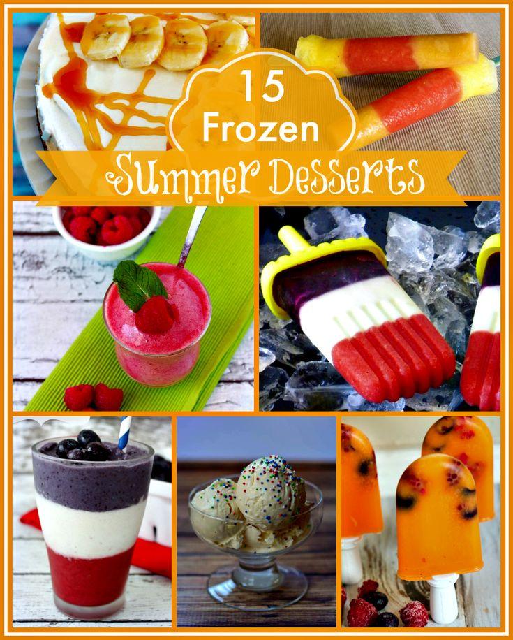 Frozen Treats for Hot Summer Days   Summer, Frozen and ...