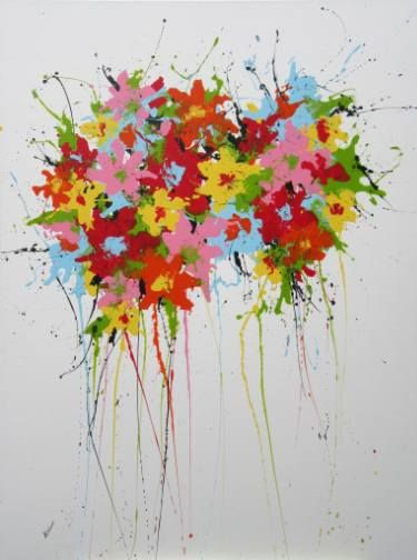 "SOLD on Saatchi Art Artist Isabelle Pelletane; Painting, ""Spring Flowery"" #art"