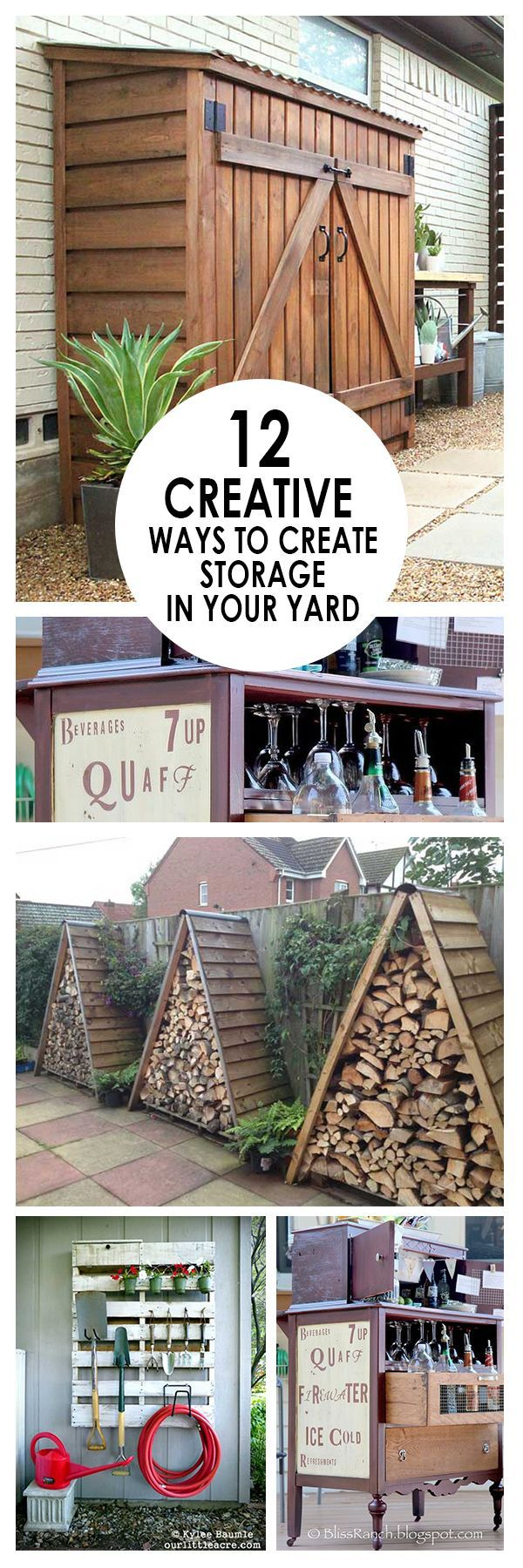 12 Creative Ways to Create Storage in Your Yard #shedplans