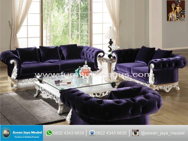 Sofa Tamu Purple Chair