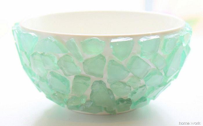 Sea Glass Succulent Bowl - homework (8)