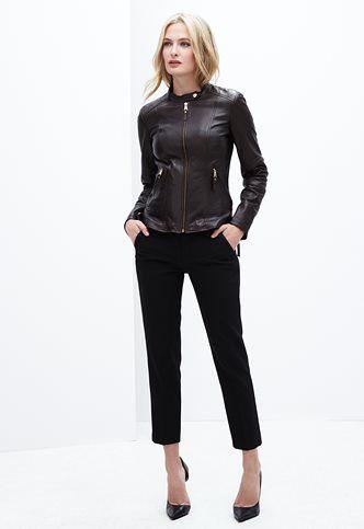 Danier Official Store, Brooklyn lamb leather jacket , black, Women, 104030563