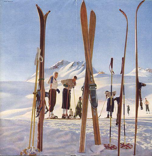 """St. Moritz,"" 1937. Photomontages, design by Walter Herdeg & Walter Amstutz"