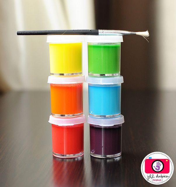 Vandfarver til at male æg med
