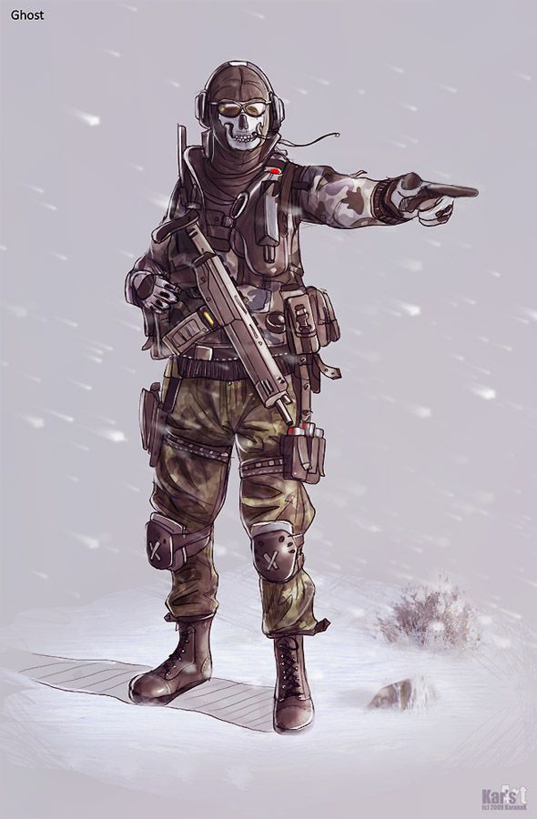 Ghost - Call of Duty - KaranaK.deviantart.com