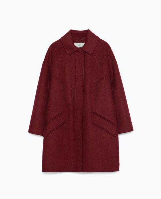 HAND MADE COAT from Zara $170  Also in beige