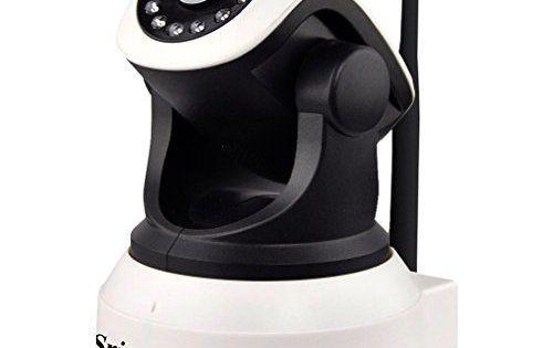 LESHP Caméras de surveillance Système 720P Jour / Nuit Vidéo Caméra IP sans fil WiFi Caméra Sécurité 1280×720 Intérieur Moniteur Maison…