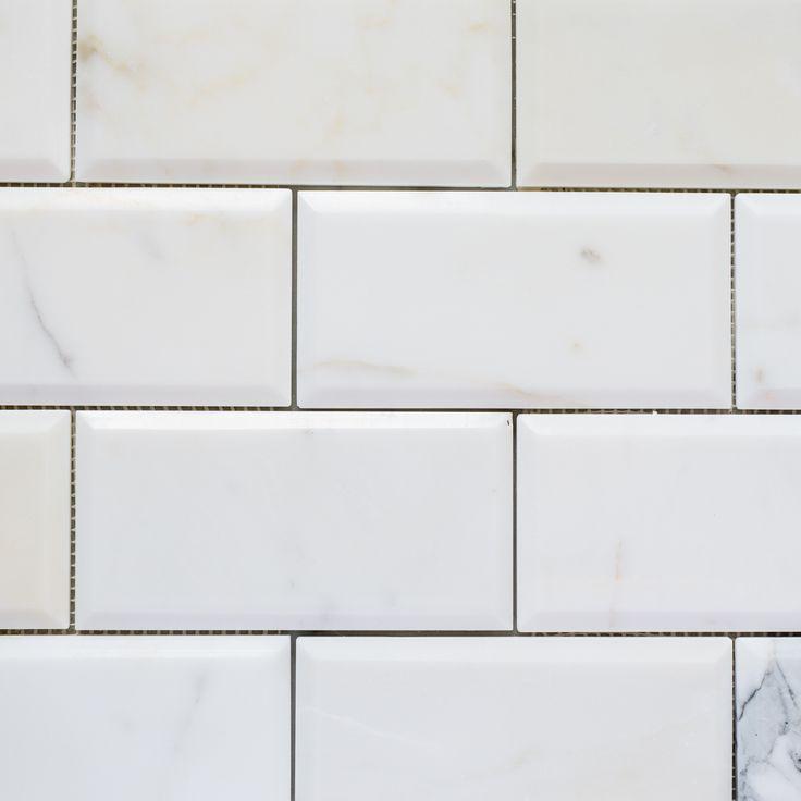 Designer Marble | Calacatta Gold Subway Bevelled