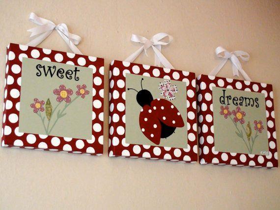 Sweet+Dreams+LadyBug+Paintings+With+HandStitched+by+BabySullysArt,+$250.00 Regalos Originales Mujeres