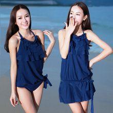 1203 разделены юбка стиле купальники женский купальник небольшой росту спа-бикини обернуть платье(China (Mainland))