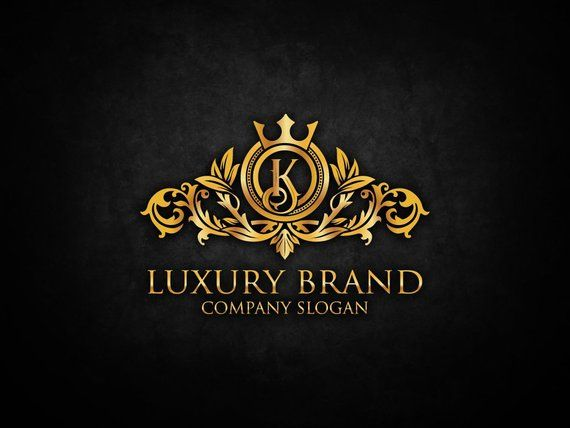 Luxury Gold Logos Elegant Emblem Monogram Luxury Logo Royal