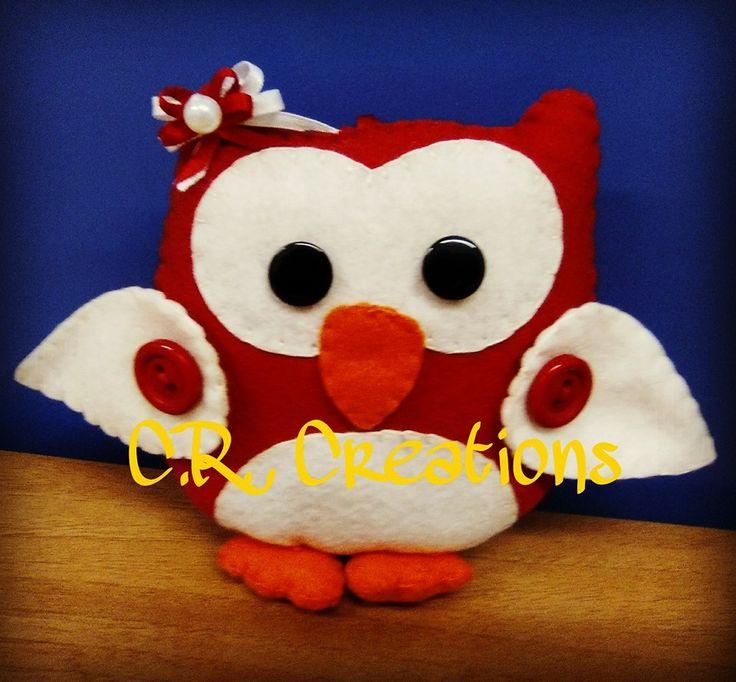 gufetta portachiavi in pannolenci #portachiavi #keychain #gufo #owl #felt #handmade