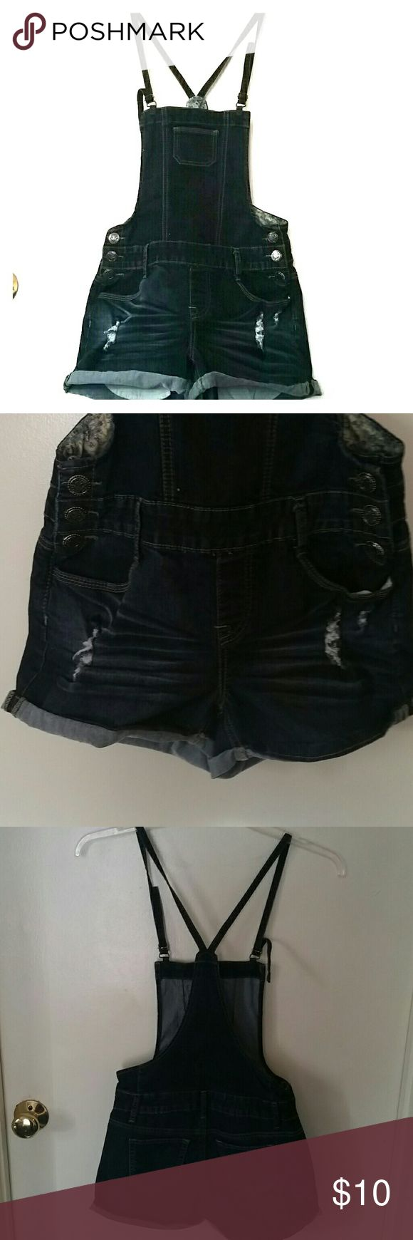 Overall Jumper Shorts Denim overall shorts. Never worn. Wax Jeans Other