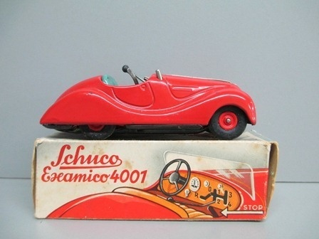 Schuco 4001 Examico Roadster Tin Wind Up Toy with Original Box